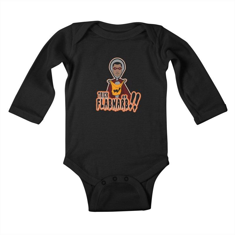 Trick or Flabnarb! (Superhero 3) Kids Baby Longsleeve Bodysuit by Kid Radical