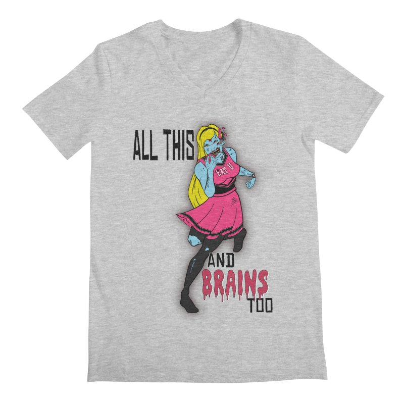 All This and Brains Too Men's V-Neck by Kid Radical