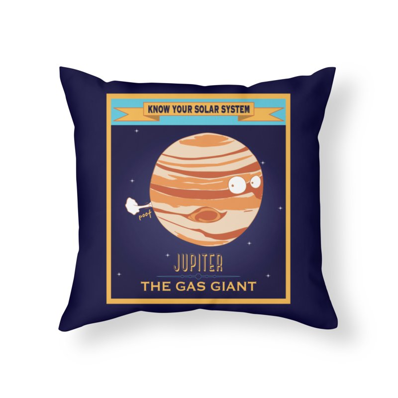 The Gas Giant Home Throw Pillow by Kid Radical
