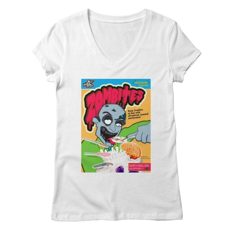 Zombites Women's V-Neck by Kid Radical