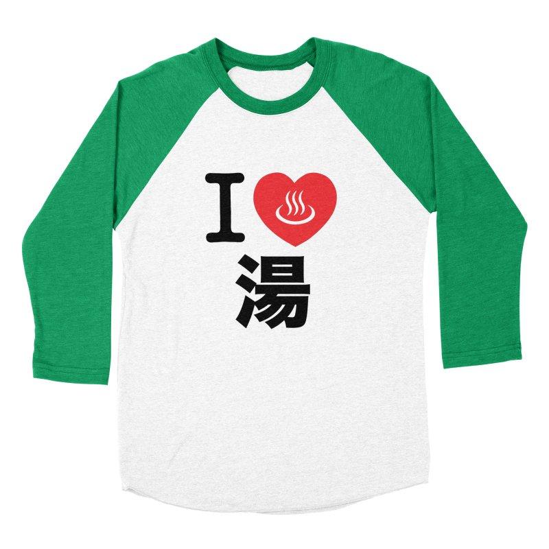 I Love Yu Men's Baseball Triblend T-Shirt by Kid Radical