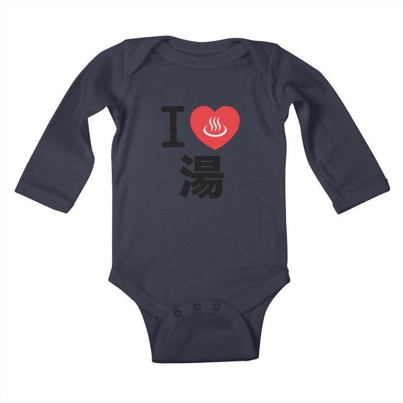 I Love Yu Kids Baby Longsleeve Bodysuit by Kid Radical