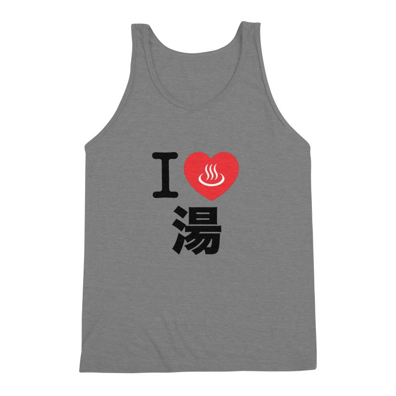 I Love Yu Men's Triblend Tank by Kid Radical