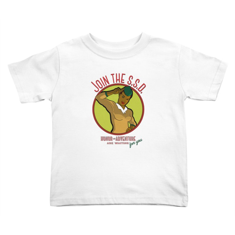 Reach for the Stars (Retro Space Officer) Kids Toddler T-Shirt by Kid Radical