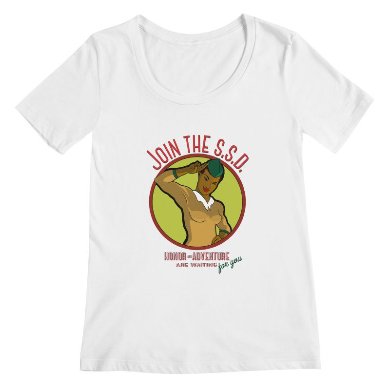 Reach for the Stars Women's Scoopneck by Kid Radical