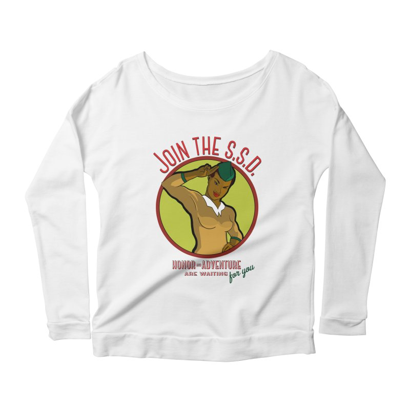 Reach for the Stars Women's Longsleeve Scoopneck  by Kid Radical