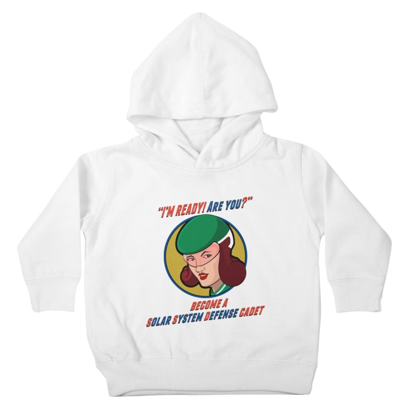 Get Ready (Retro Space Cadet) Kids Toddler Pullover Hoody by Kid Radical