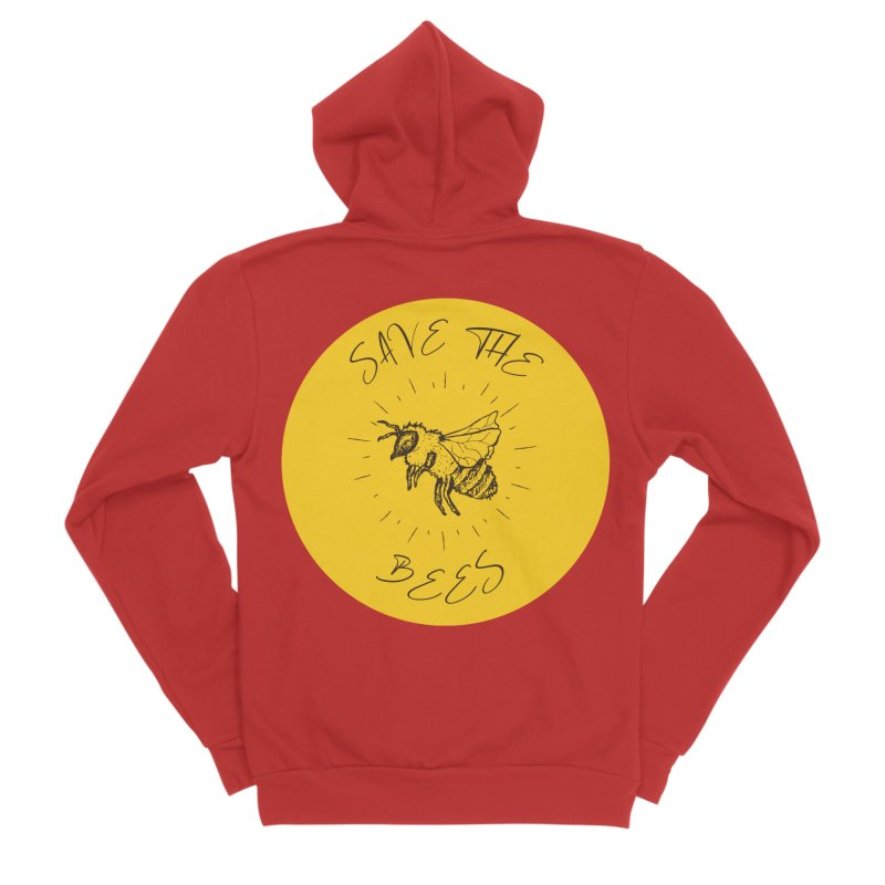 Save The Bees Men's Zip-Up Hoody by Wavey Jane