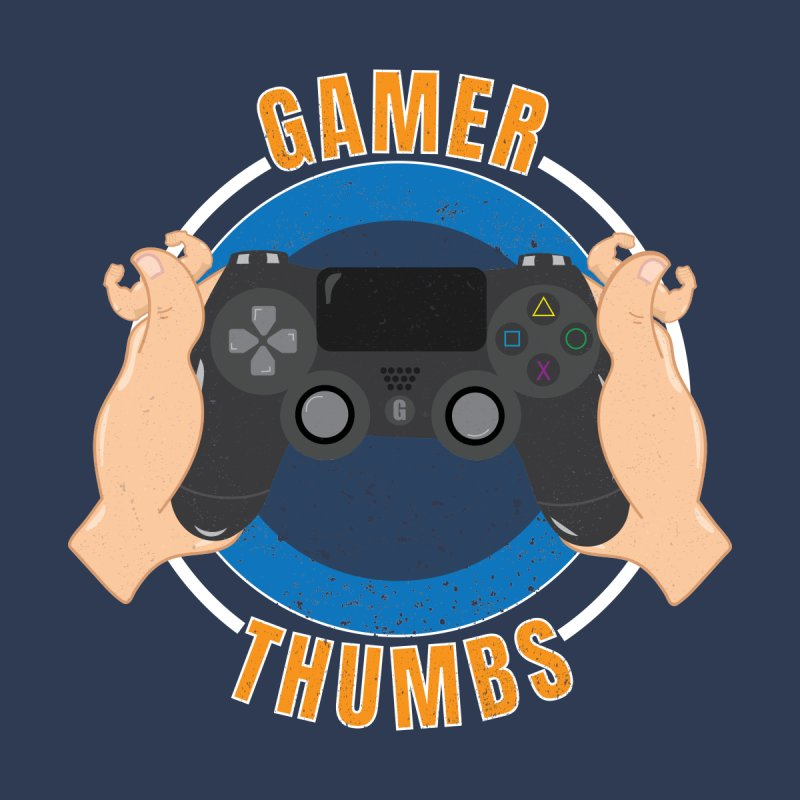 Gamer Thumbs Men's Zip-Up Hoody by Wavey Jane