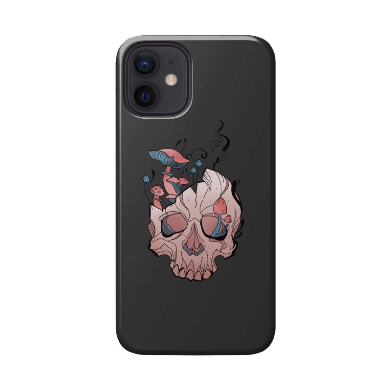 Mushroom Skull Accessories Phone Case by Wavey Jane