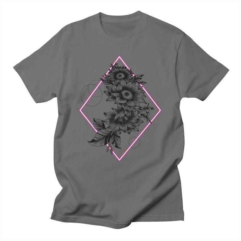 Geometric Sunflower Men's T-Shirt by Wavey Jane