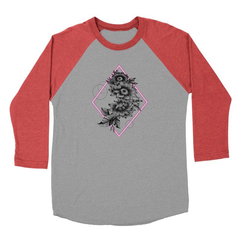 Geometric Sunflower Men's Longsleeve T-Shirt by Wavey Jane