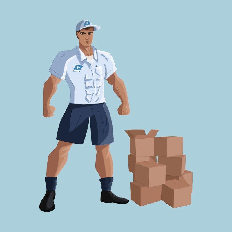 Super Mail Man Men's Zip-Up Hoody by Wavey Jane