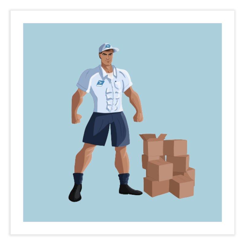 Super Mail Man Home Fine Art Print by Wavey Jane