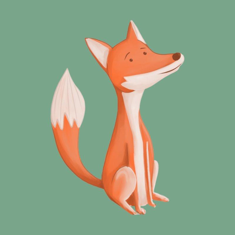 Cute Fox Women's V-Neck by Wavey Jane