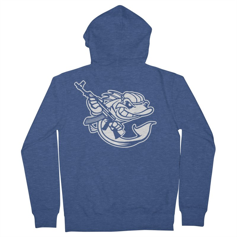 SWIMMING WITH THE FISHES Women's French Terry Zip-Up Hoody by KingKyle's Artist Shop