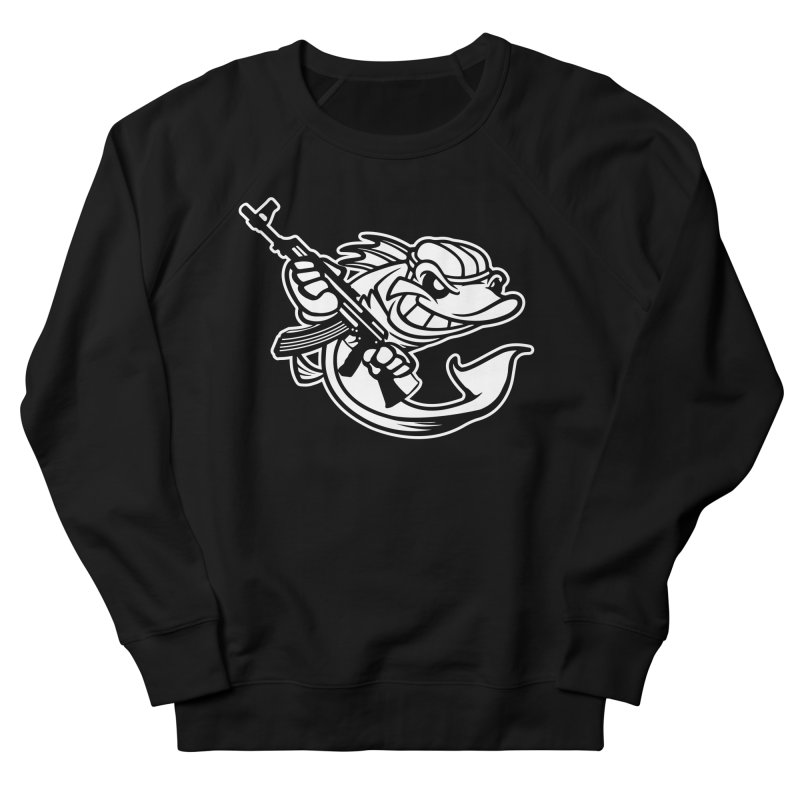 SWIMMING WITH THE FISHES Men's French Terry Sweatshirt by KingKyle's Artist Shop