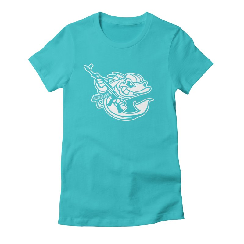 SWIMMING WITH THE FISHES Women's Fitted T-Shirt by KingKyle's Artist Shop