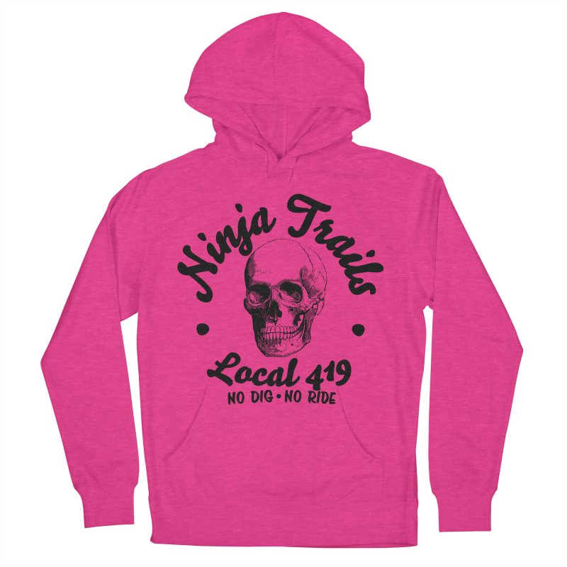 Ninja Trails (black print) Women's French Terry Pullover Hoody by KingKyle's Artist Shop