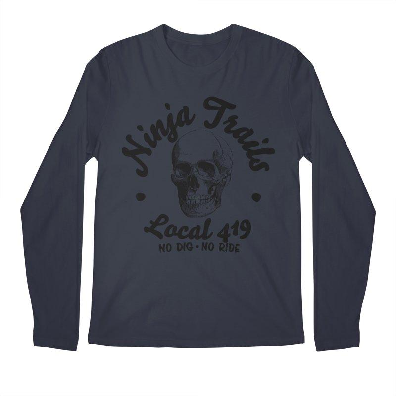 Ninja Trails (black print) Men's Longsleeve T-Shirt by KingKyle's Artist Shop