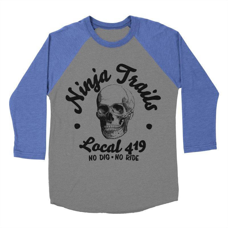 Ninja Trails (black print) Men's Baseball Triblend T-Shirt by KingKyle's Artist Shop