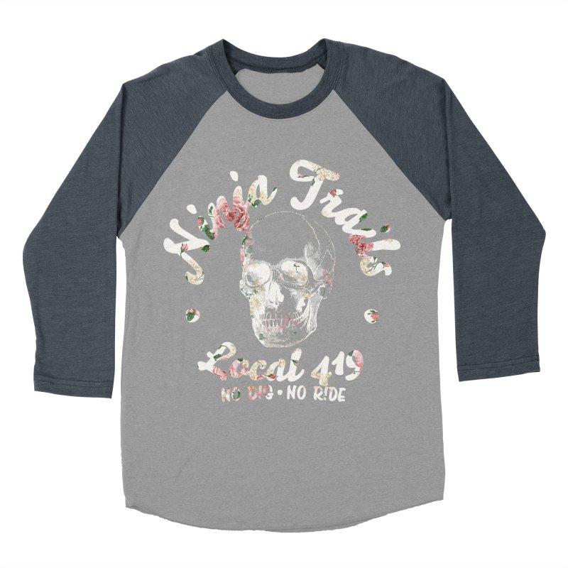 Ninja Trails (floral print) Women's Baseball Triblend Longsleeve T-Shirt by KingKyle's Artist Shop