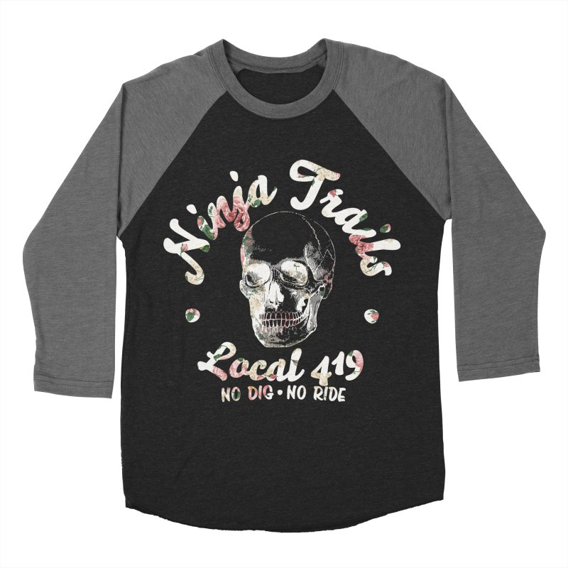 Ninja Trails (floral print) Men's Baseball Triblend Longsleeve T-Shirt by KingKyle's Artist Shop