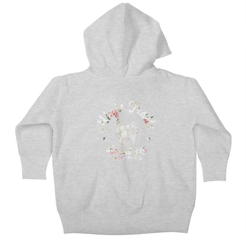 Ninja Trails (floral print) Kids Baby Zip-Up Hoody by KingKyle's Artist Shop