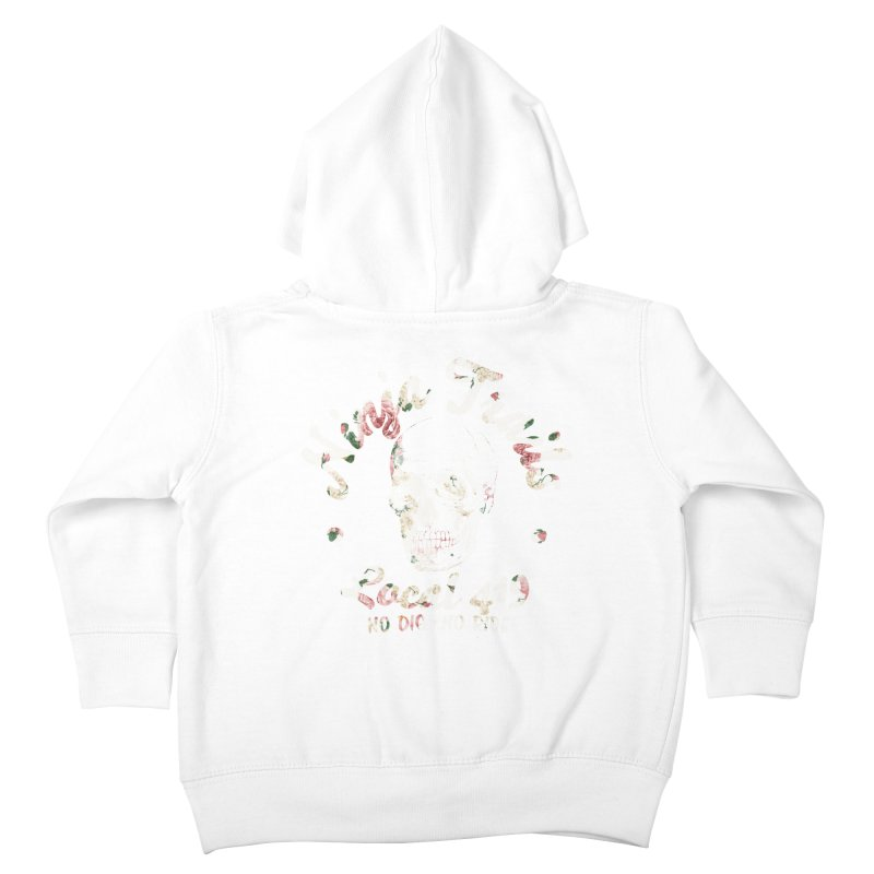 Ninja Trails (floral print) Kids Toddler Zip-Up Hoody by KingKyle's Artist Shop