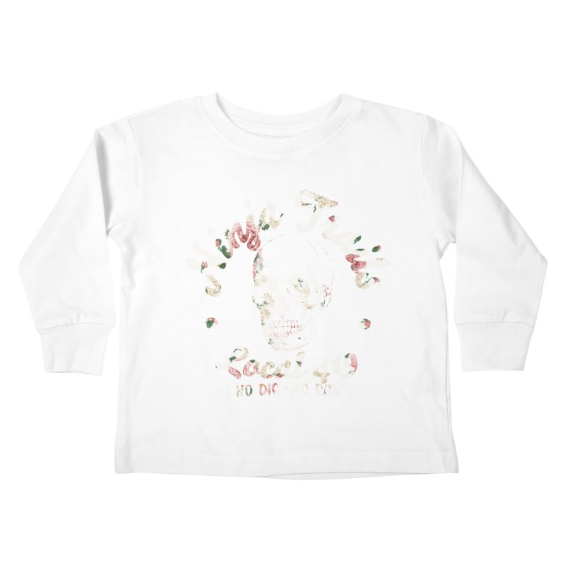 Ninja Trails (floral print) Kids Toddler Longsleeve T-Shirt by KingKyle's Artist Shop