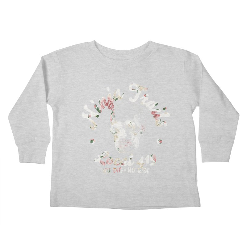 Ninja Trails (floral print) Kids Toddler Longsleeve T-Shirt by KingKyle's Artist Shop