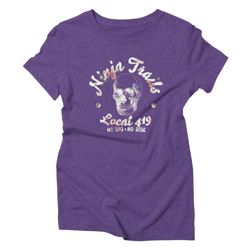 Ninja Trails (floral print) Women's Triblend T-Shirt by KingKyle's Artist Shop