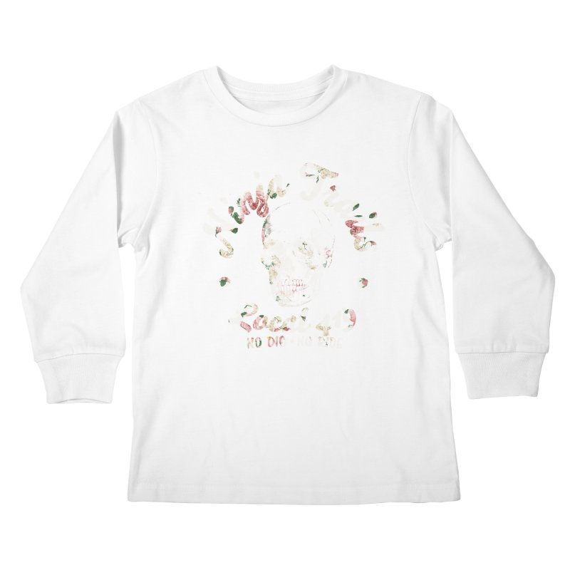 Ninja Trails (floral print) Kids Longsleeve T-Shirt by KingKyle's Artist Shop