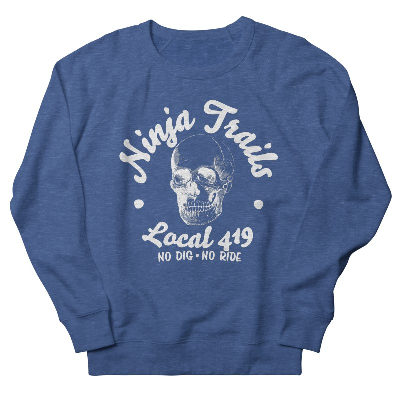Ninja Trails (white print) Men's French Terry Sweatshirt by KingKyle's Artist Shop