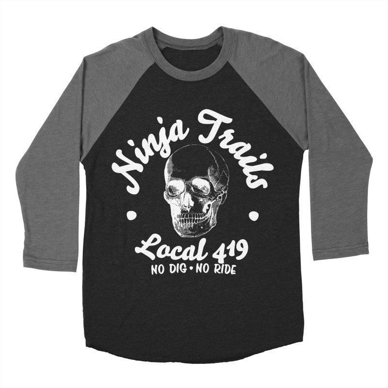 Ninja Trails (white print) Men's Baseball Triblend Longsleeve T-Shirt by KingKyle's Artist Shop