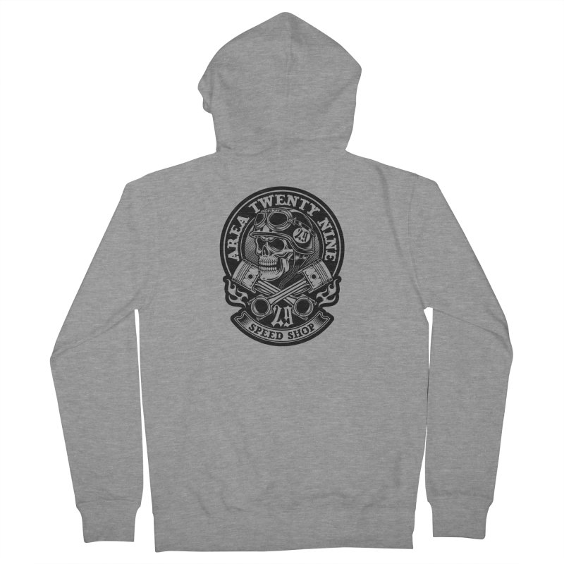 Area 29 Black ink Men's French Terry Zip-Up Hoody by KingKyle's Artist Shop