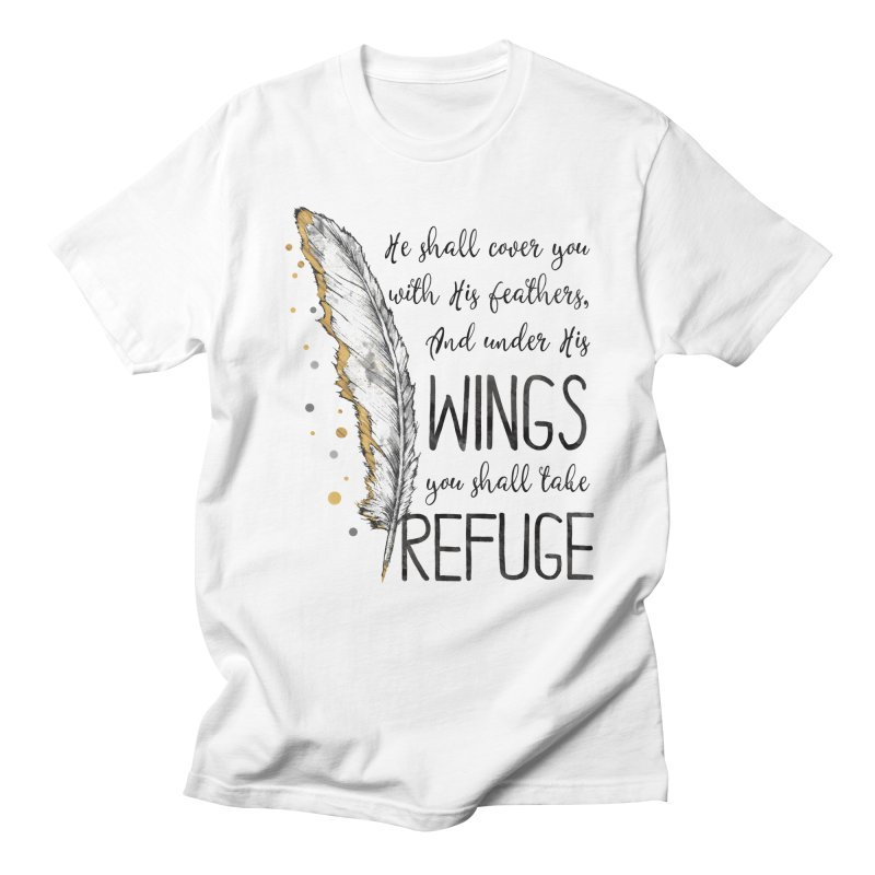 Refuge in Women's Unisex T-Shirt White by Kingdomatheart's Artist Shop