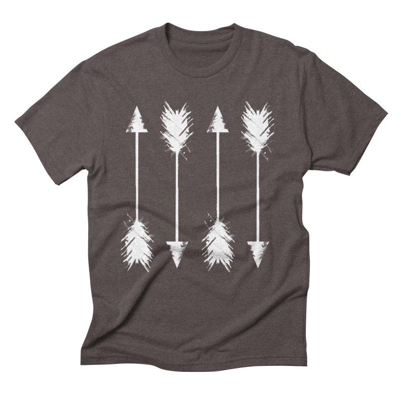 White Arrow Men's Triblend T-Shirt by Kingdomatheart's Artist Shop