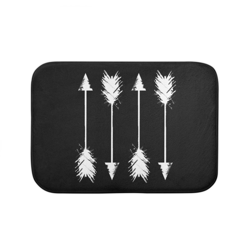 White Arrow Home Bath Mat by Kingdomatheart's Artist Shop