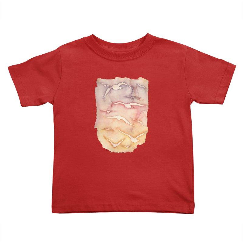 Sunset Watercolor  Kids Toddler T-Shirt by Kingdomatheart's Artist Shop