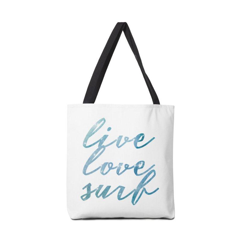 Live love surf Accessories Bag by Kingdomatheart's Artist Shop