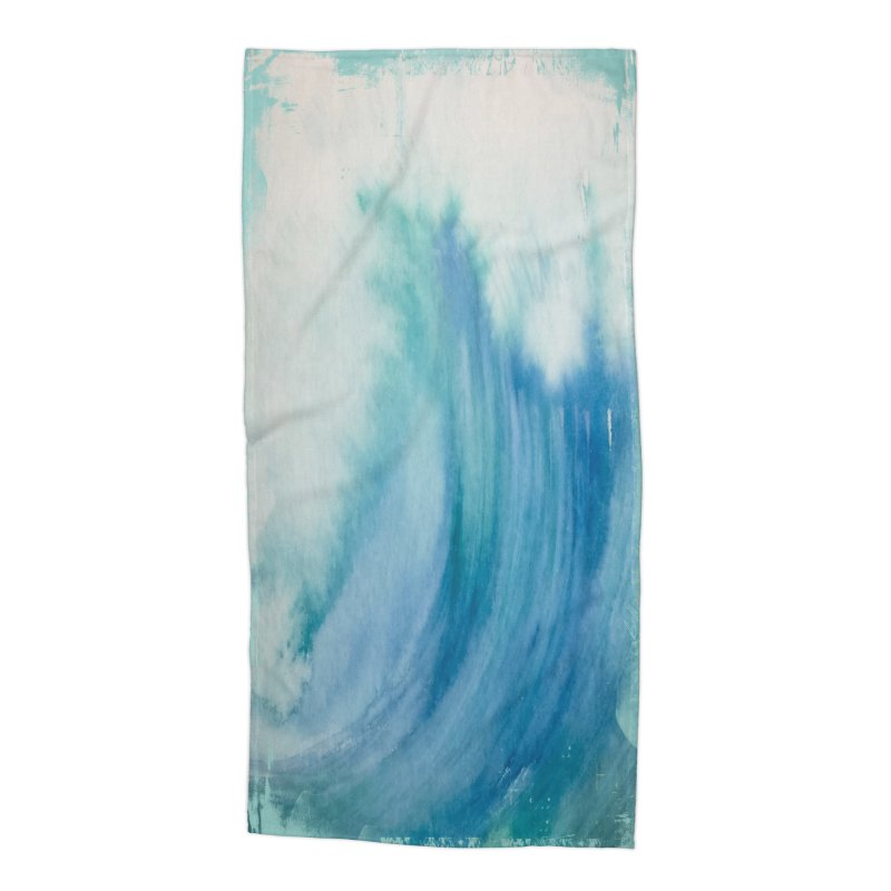 Watercolor Wave  Accessories Beach Towel by Kingdomatheart's Artist Shop