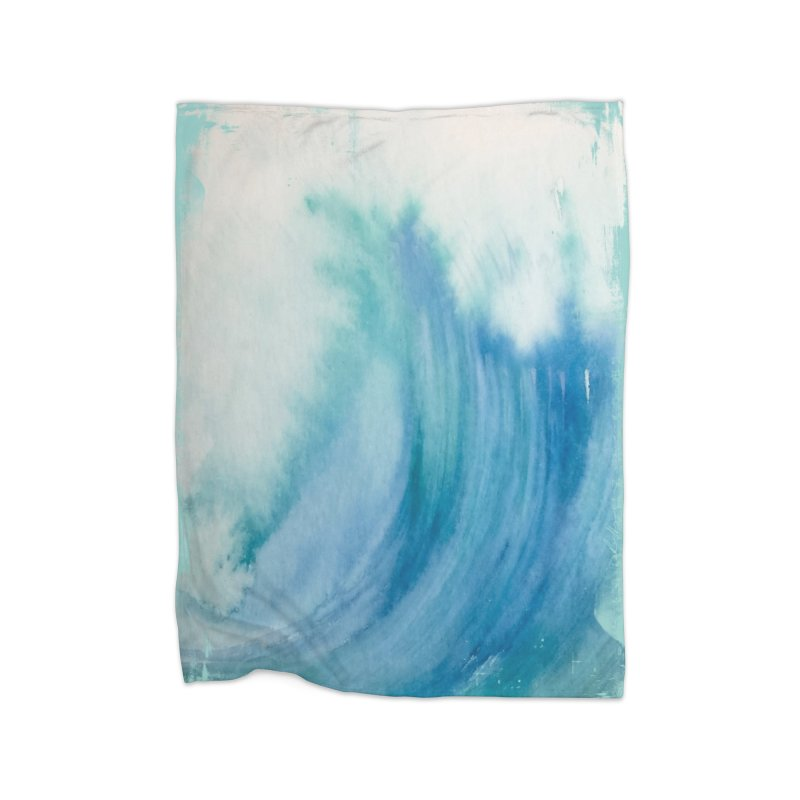 Watercolor Wave  Home Blanket by Kingdomatheart's Artist Shop