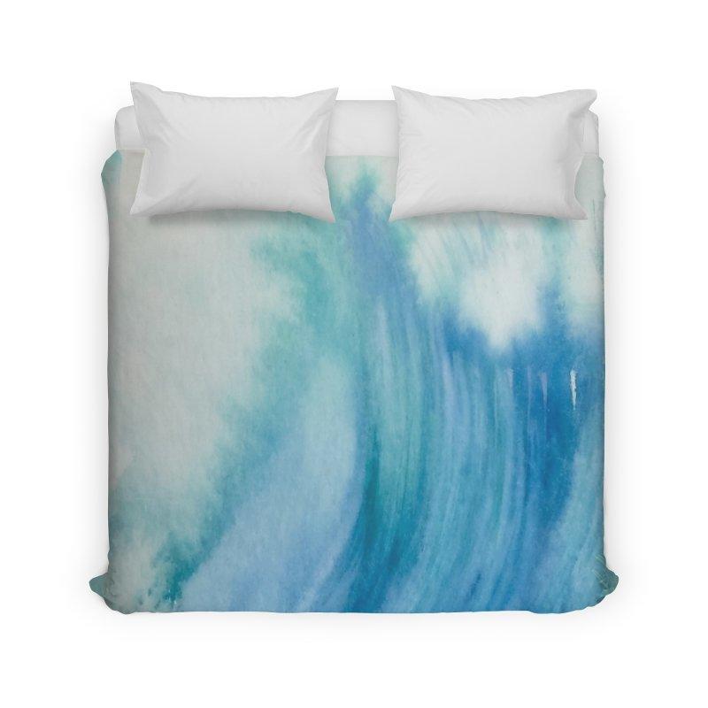 Watercolor Wave  Home Duvet by Kingdomatheart's Artist Shop