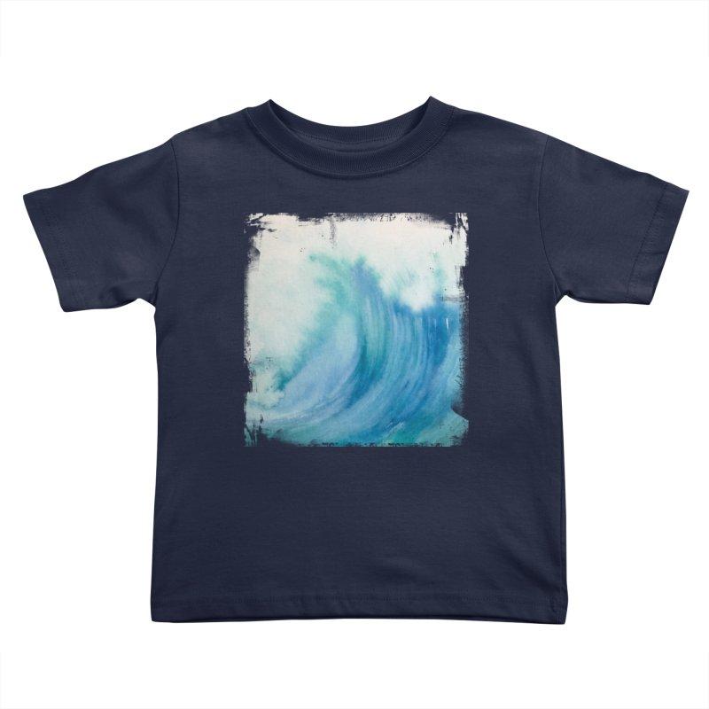 Watercolor Wave  Kids Toddler T-Shirt by Kingdomatheart's Artist Shop