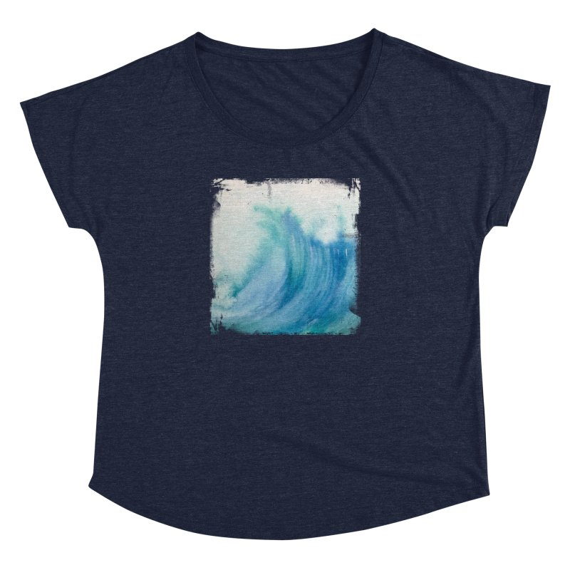 Watercolor Wave  Women's Dolman by Kingdomatheart's Artist Shop