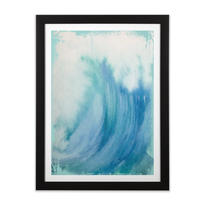 Watercolor Wave  Home Framed Fine Art Print by Kingdomatheart's Artist Shop