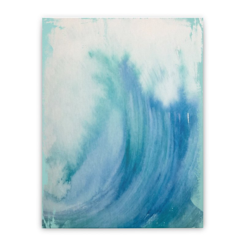 Watercolor Wave  Home Stretched Canvas by Kingdomatheart's Artist Shop