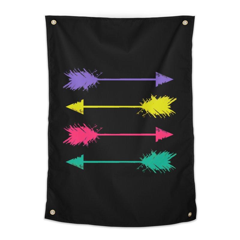 Neon Arrows  Home Tapestry by Kingdomatheart's Artist Shop