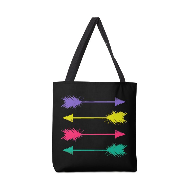 Neon Arrows  Accessories Bag by Kingdomatheart's Artist Shop